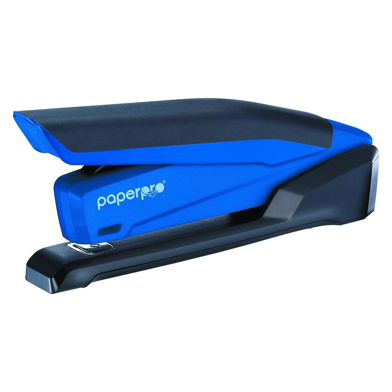 PaperPro inPOWER20 - 3 in 1 Stapler - One Finger, No Effort, Spring Powered Stapler, Blue (1122)
