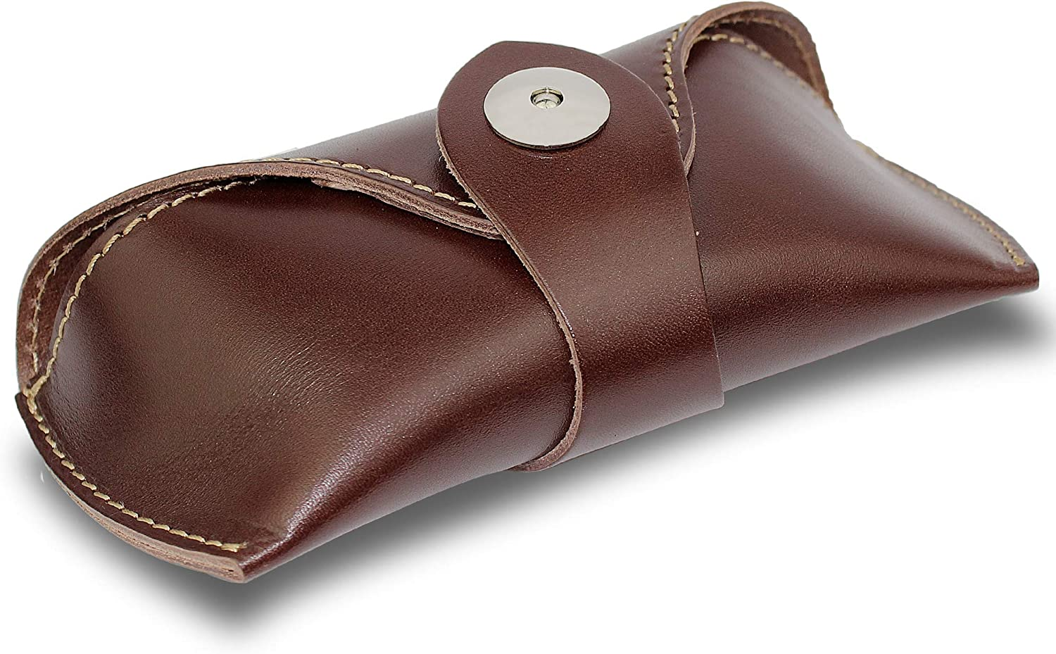 DK86 Genuine Leather Glasses Case Sunglasses Pouch Eyeglass Case, for Men and Women