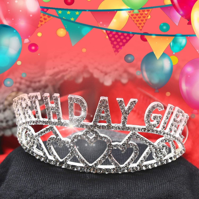 Amazon.com: Tiara de cumpleaños para niña de la mejor ...