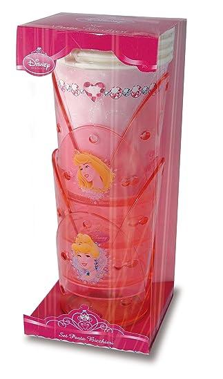 Gala - Vasos de papel con portavasos de PVC, diseño de Pricesas Disney, color