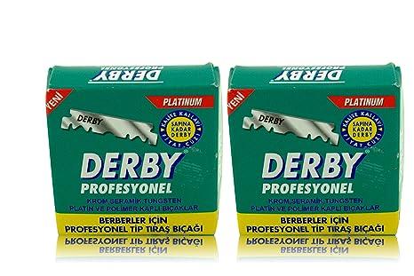 Cuchillas profesionales Derby - hojas de afeitar derby - 100 piezas en un  paquete - 2 0fa7a5258fd5