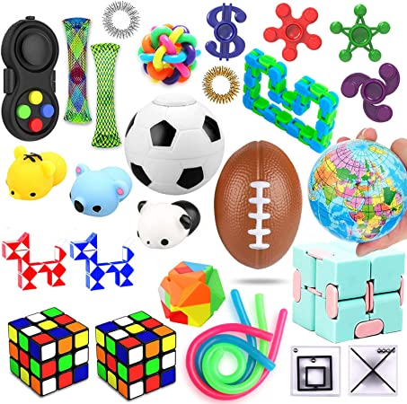 28 Pack Sensory Set, Relieves Stress and Anxiety, Fidget Toys