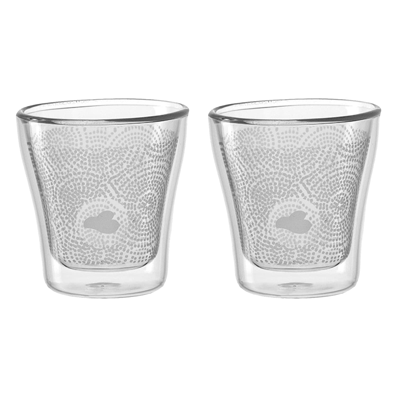 Leonardo 2er Set Becher Dekor Duo Latte Macchiato Gläser doppelwandig Trinkbeche