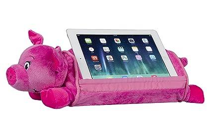 6f4d5a95edf7 Amazon.com  LapGear Lap Pets Tablet Pillow Tablet Stand - Pig (Fits ...