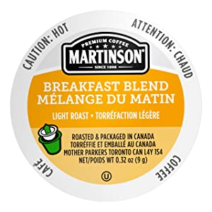 Martinson Single Serve Coffee Capsules, Breakfast Blend, Compatible with Keurig K-Cup Brewers, 24 Count