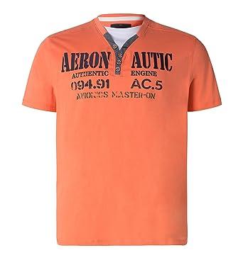 c069fc8c4e08be C A Herren T-Shirt Große Größen XXL Übergröße Sommer Bio-Baumwolle orange  Größe 4XL