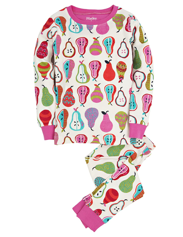 Hatley Little Girls Pajama Set Overall Harvest Pears