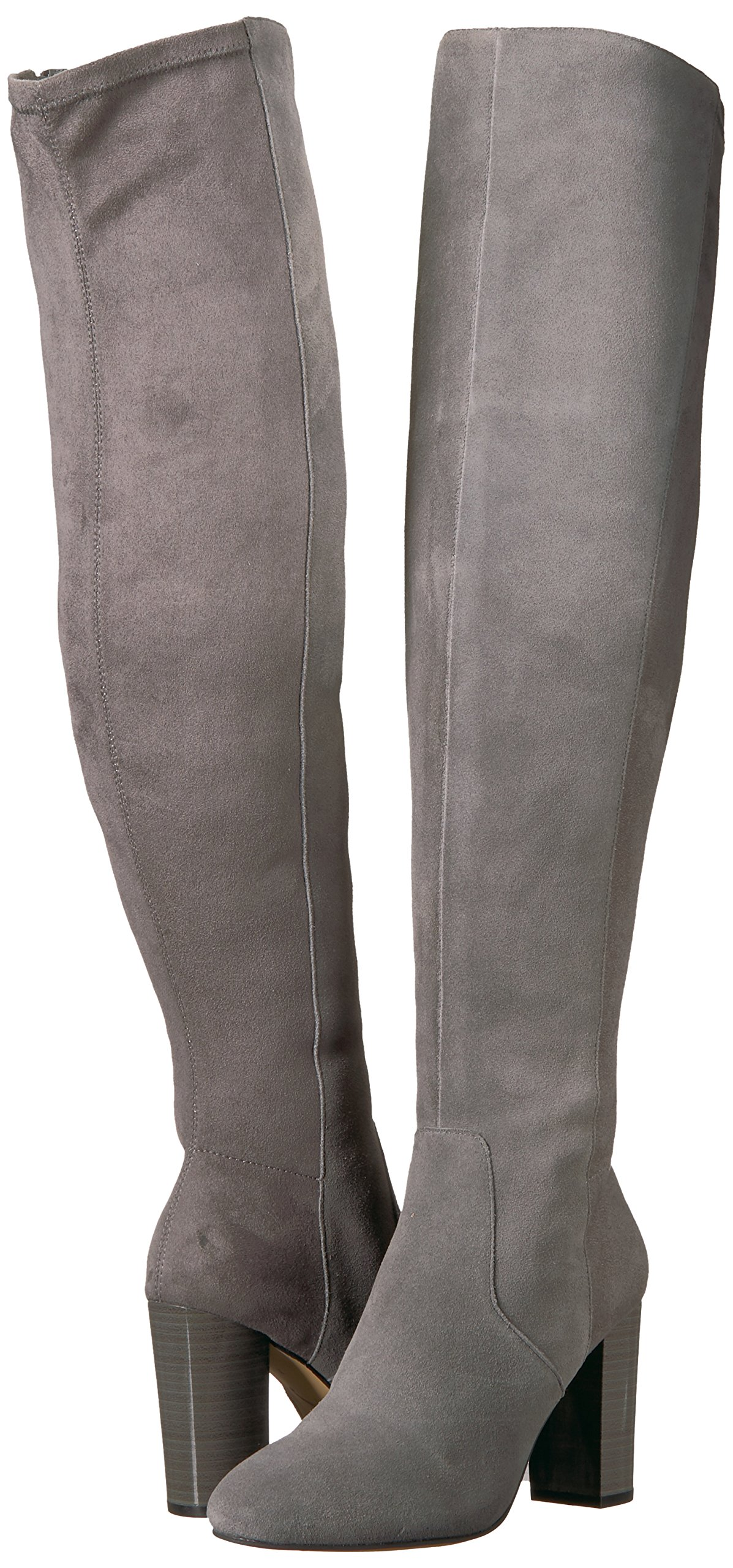 The Fix Women's Lyndsey Over-The-Knee Block-Heel Boot, Elephant Grey, 6.5 M US by The Fix (Image #6)