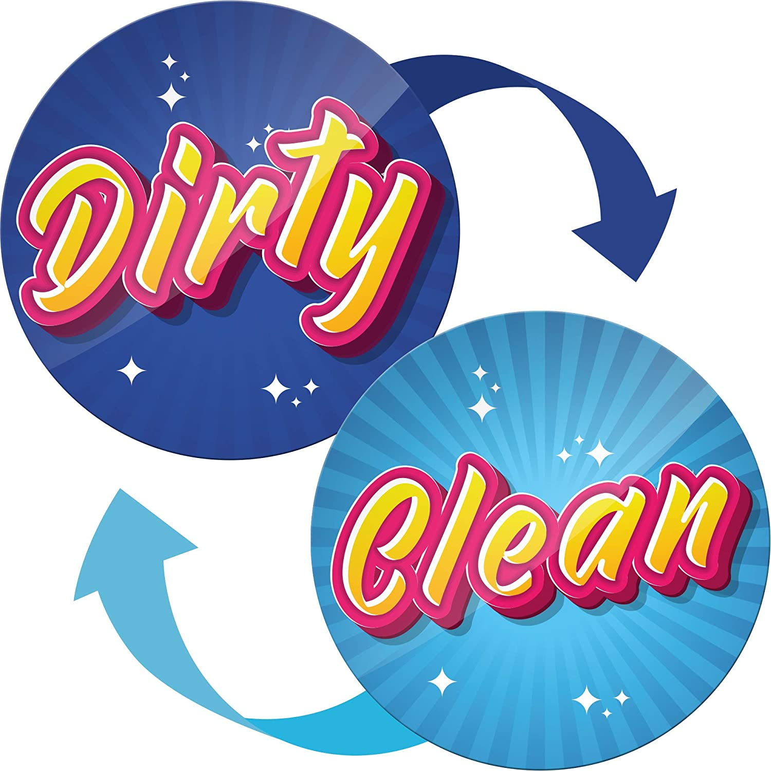 Dishwasher Magnet Clean Dirty Sign - Kitchen Magnets Ideal as Gifts for Mom and Dad from Son and Daughter - Housewarming Gifts New Home - Clean Dirty Dishwasher Magnet Flip