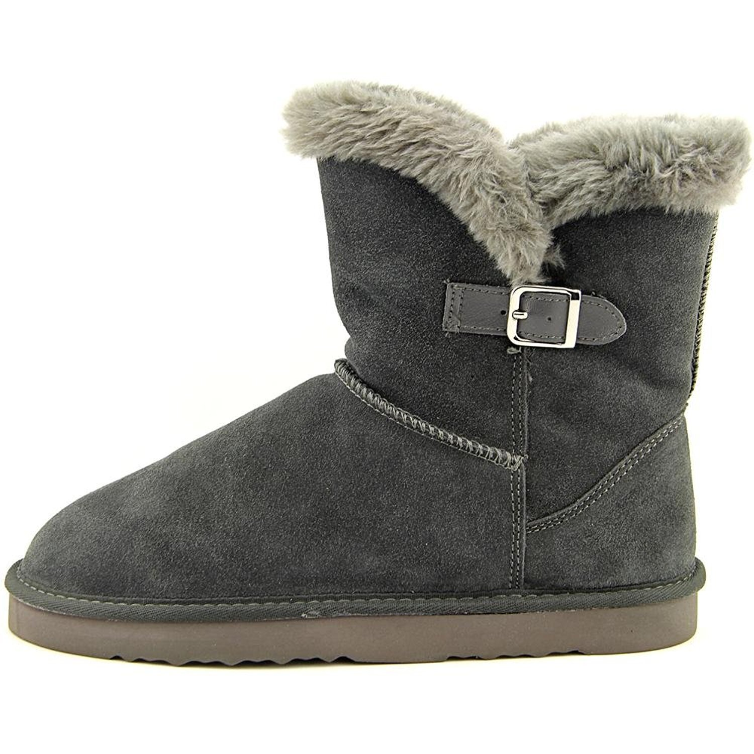 Style & Co. Womens Tiny 2 Leather Closed Toe Ankle Cold Weather Boots Grey Size 6.0