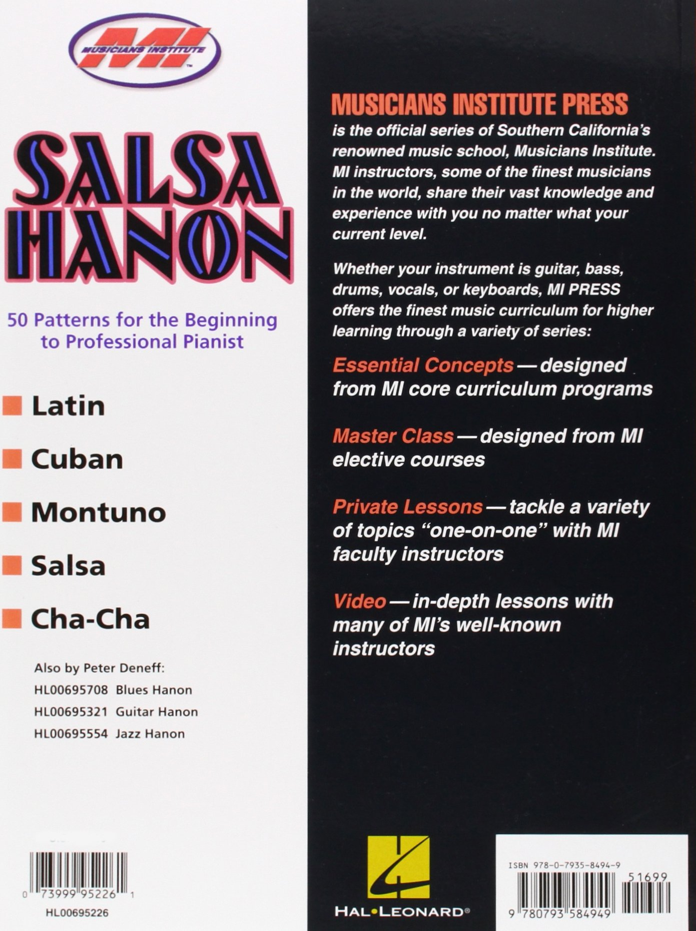 Amazon.com: Salsa Hanon: Private Lessons Series (0073999952261): Peter  Deneff: Books