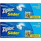 "Ziploc Slider Stand & Fill Bags, 7.9"" x 5.9"" x 1.9"" (20cm x 14.9cm x 4.7cm), 15-Count, 2-Pack"