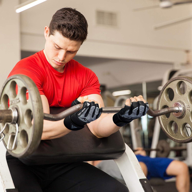 RDX Gants De Musculation Poignet Comp/étition Workout Entrainement Fitness Gymnastique Powerlifter Gym Gloves