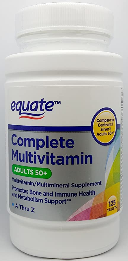 Buy Equate Complete Multivitamin Adults 50 A Thru Z 125ct Compare To Centrum Silver Adults 50 Online At Low Prices In India Amazon In