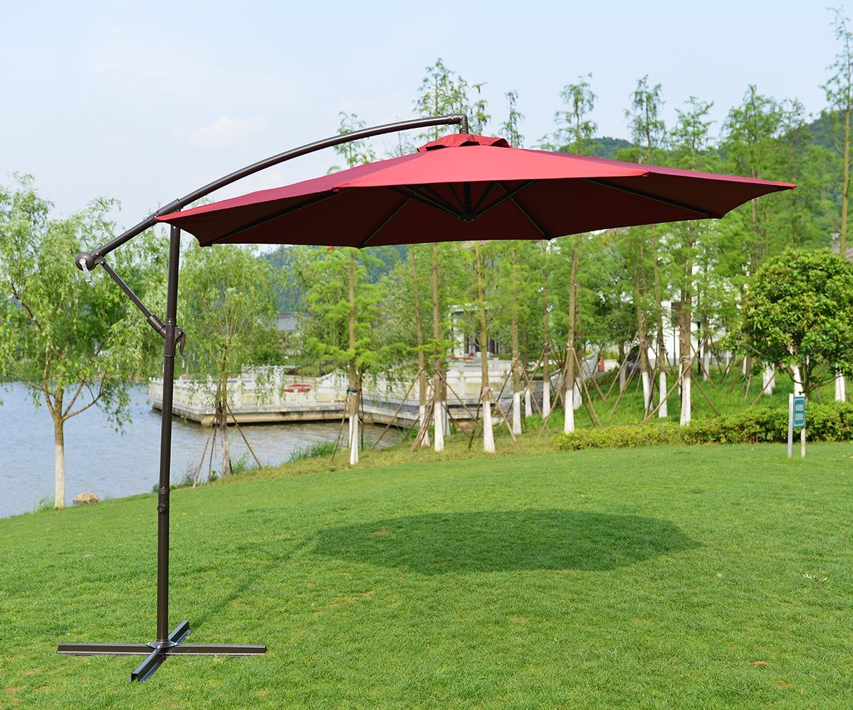 Top 10 best offset patio umbrellas in 2017 reviews for Best outdoor umbrellas reviews