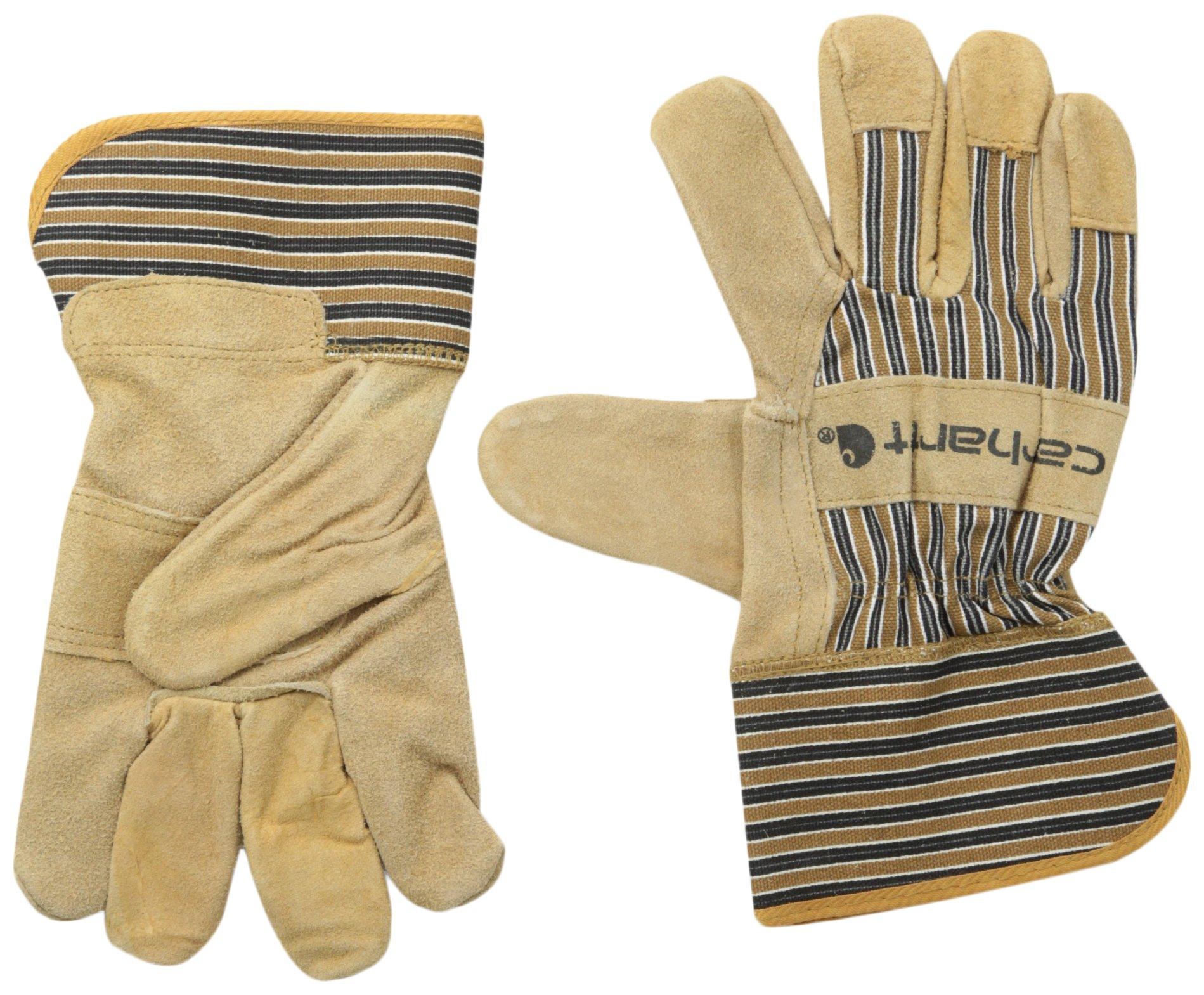 Carhartt Men's Suede Work Glove with Safety Cuff, Brown, Medium