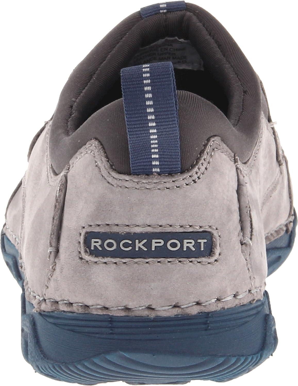 Rockport - Mocasines para Hombre Grayson Grey Nubuck: Amazon.es: Zapatos y complementos