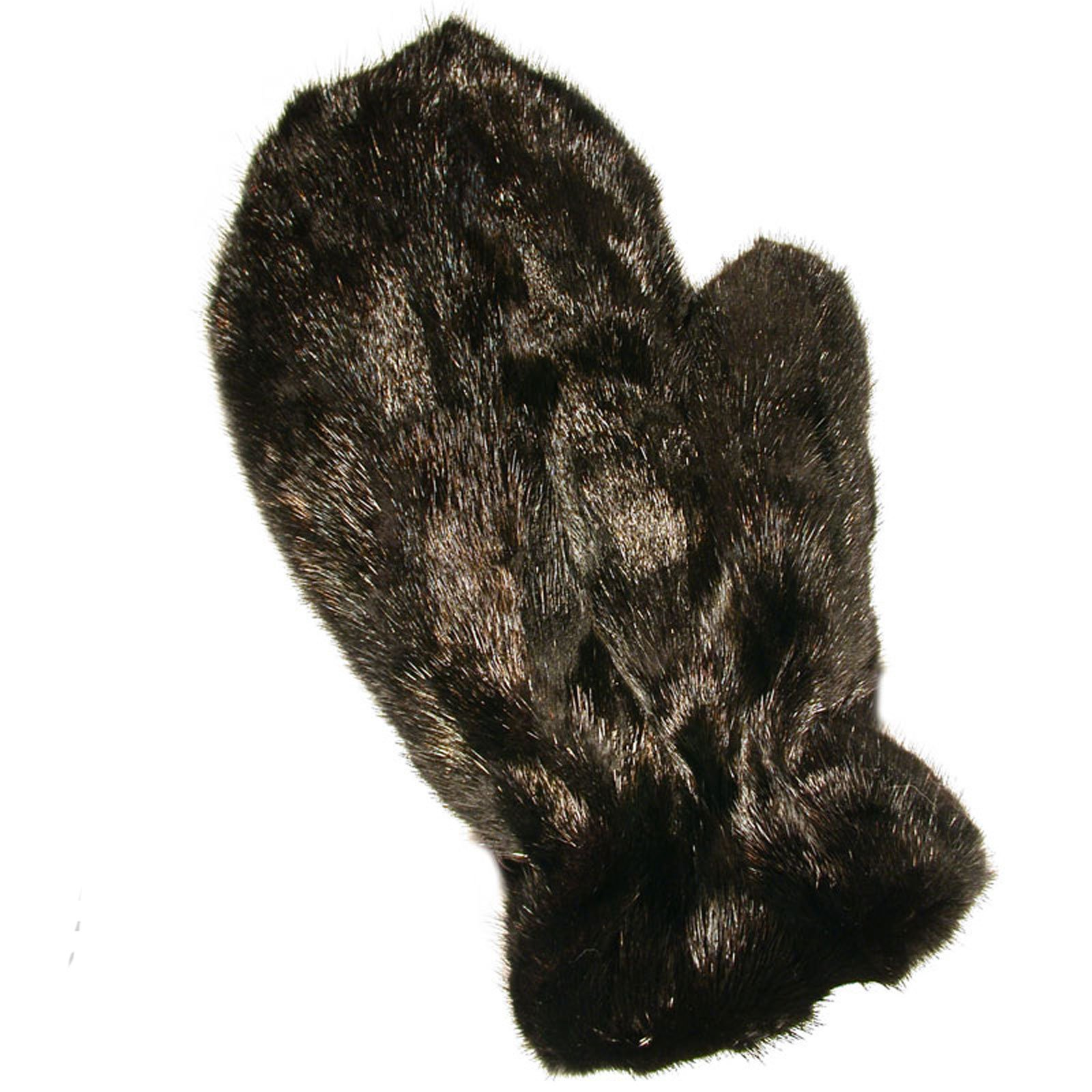 MinkgLove Mink Strips Massage Glove, Textured Yet Silky Smooth Feel, Ranch Black Color, Hand Tailored, Unisex, One Size - Double Sided Fur