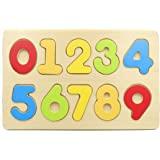 Lam Wooden Number Puzzle Board Toy For Baby