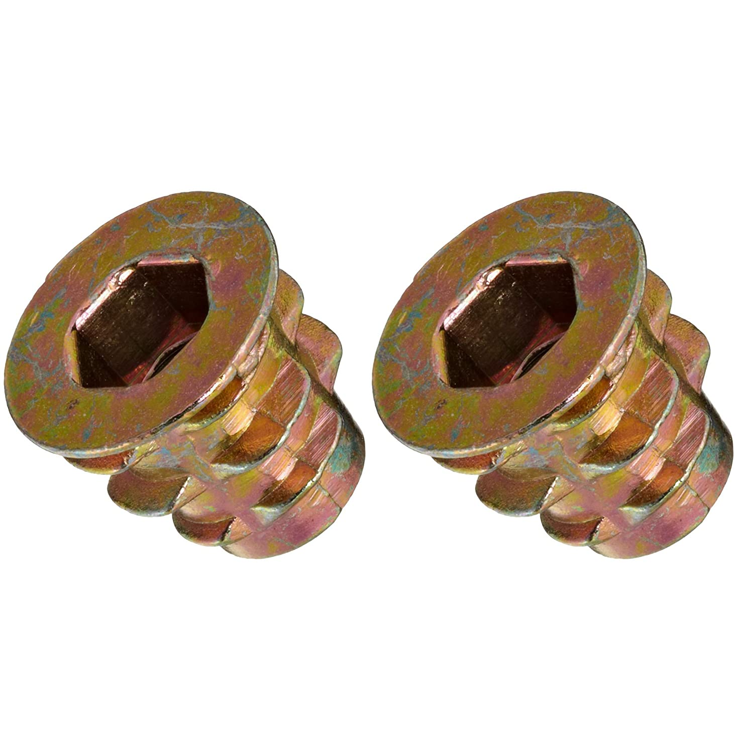 E-Z LOK 10-24 Die Cast Zinc Alloy Hex-Drive Threaded Insert for Wood 25 Pieces