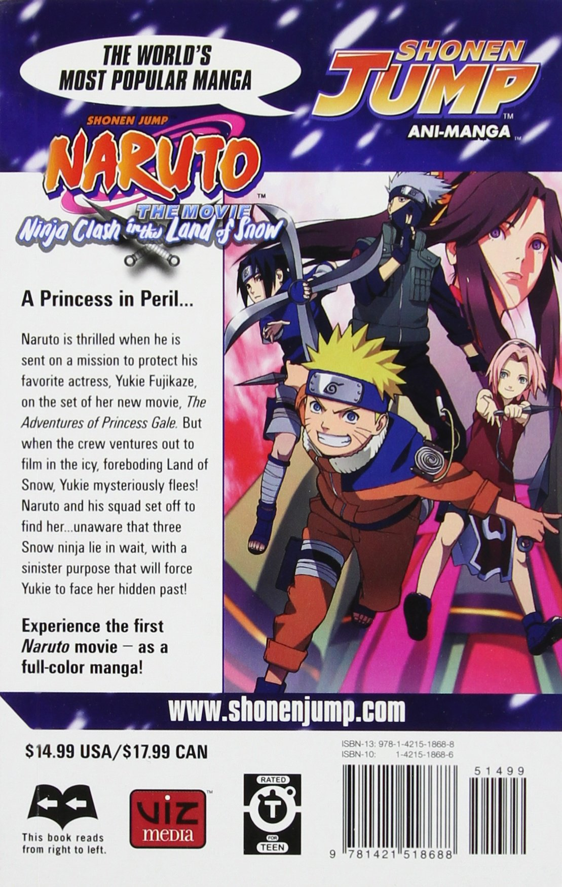 Amazon.com: Naruto The Movie Ani-Manga, Vol. 1: Ninja Clash ...