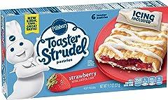 Pillsbury Toaster Strudel, Strawberry, Frozen Pastries, 6 ct, 11.7 oz