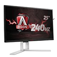 AOC Agon AG251FZ 63 cm (24,5 Zoll) Monitor (DVI, HDMI, USB Hub, 1ms Reaktionszeit, Displayport, 240Hz, 1920 x 1080 Pixel, Free-Sync) schwarz