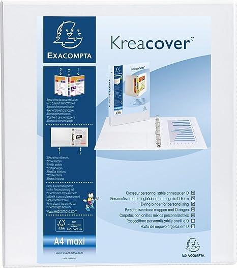 Amazon.com: Exacompta Kreacover - Archivador de anillas ...