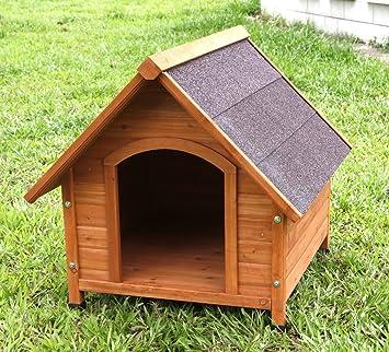 Captain Pet Frame impermeable perro perrera perro madera sólida Natural lujo Casa: Amazon.es: Jardín