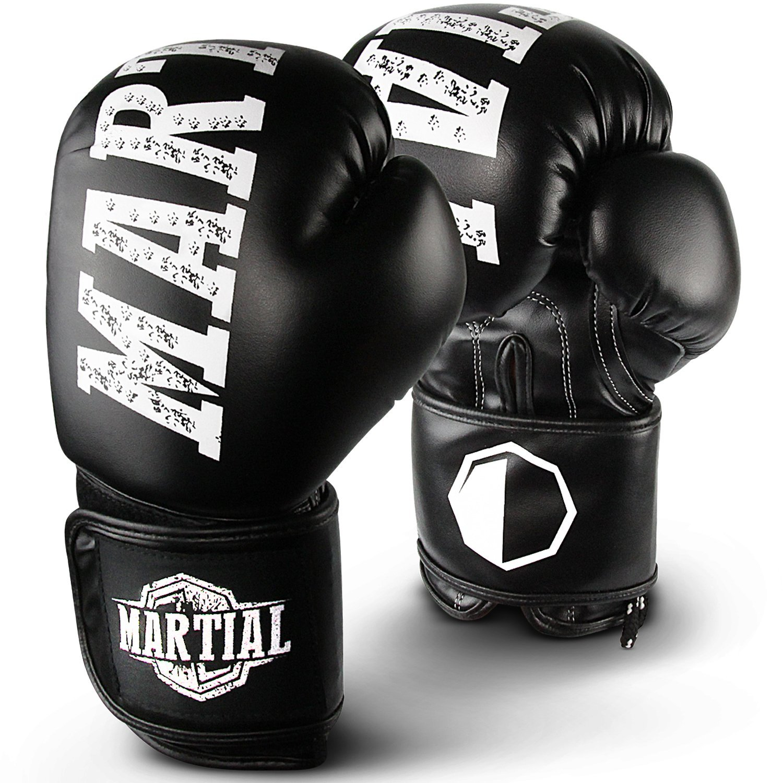 Martial Guantes de boxeo bestem material para larga duració n. Guantes de kickboxing para deportes de lucha, MMA, sparring y cajas con ó ptima Pé rdida de impacto. Guantes con gran comodidad. Incluye bolsa. Super Active Sports