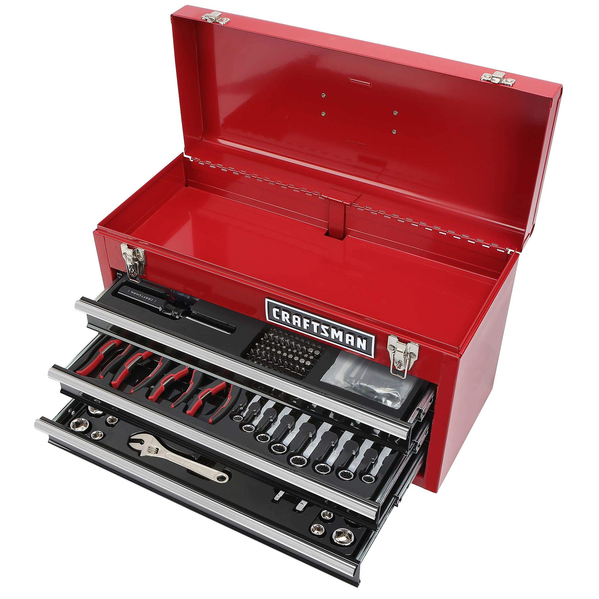 CRAFTSMAN 178 TOOL SET WITH CRAFTSMAN 3 DRAWER TOOL BOX by Craftsman