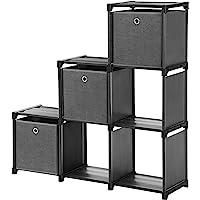 SONGMICS Estantería de Cubos, Librería de 6 Compartimentos, Estantería en Forma de…