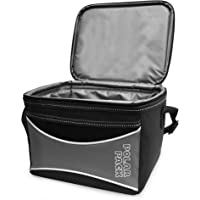 Polar Pack 6 Can Insulated Small Cooler Bag for Travel | Soft Collapsible Cooler Bag Great for Family Camping, Beach Construction Site, Work, School, Travel | Leak-Proof Lunch Box