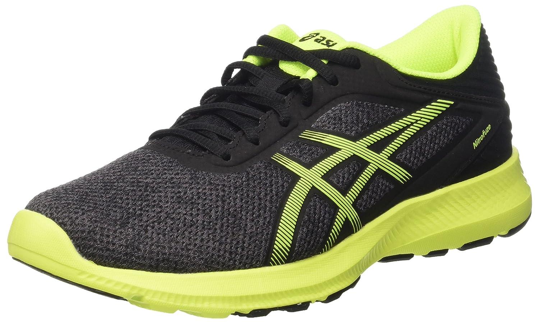Asics Nitrofuze, Zapatillas de Gimnasia para Hombre 40.5 EU|Grigio (Dark Steel/Safety Yellow/Black)