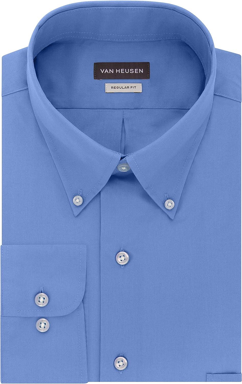 Van Over item handling Heusen Men's Dress Shirts Poplin Fit Regular Ranking TOP13 Silky Solid