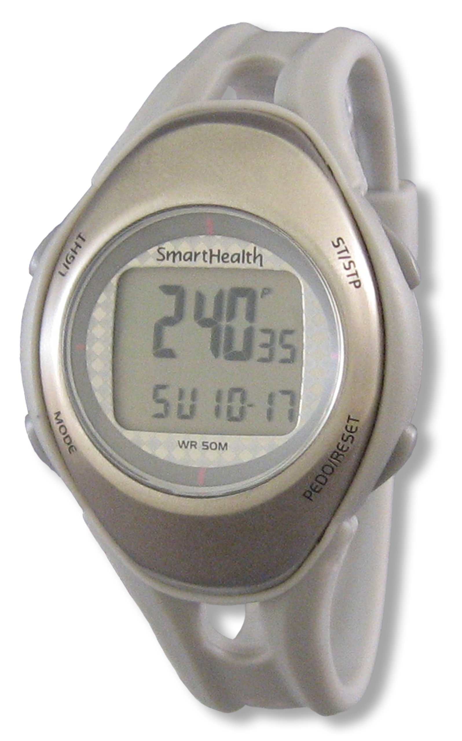 Smart Health Walking, All-in-One Wellness Monitor, Mid Size (Silver)