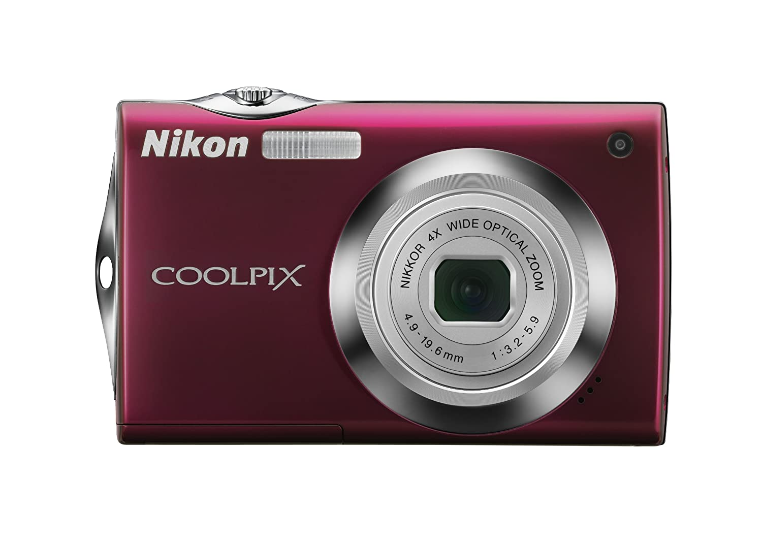 Amazon.com : Nikon Coolpix S4000 12 MP Digital Camera with 4x Optical  Vibration Reduction (VR) Zoom and 3.0-Inch Touch-Panel LCD (Red) : Point  And Shoot ...