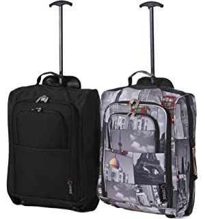2b6ba7cbd Set of 2 Super Lightweight Cabin Approved Luggage Travel Wheely Suitcase  Wheeled Bags