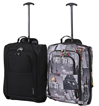6ad2d3ecb Set of 2 Super Lightweight Cabin Approved Luggage Travel Wheely Suitcase  Wheeled Bags