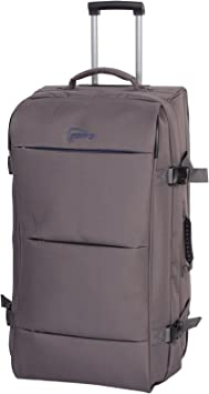 Colour: Grey//Orange Size: Large Antler Headingley Double Decker Trolley Bag Holdall Suitcase with Wheels