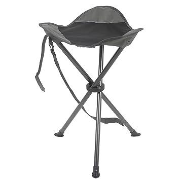 Exceptional PORTAL Folding Tripod Tall Camping Stool, Grey