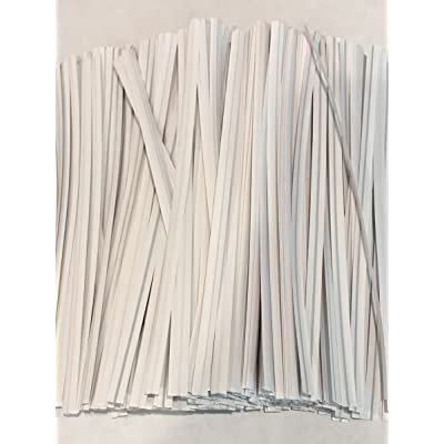 """2000 Twist Ties 7"""" Length Plastic Coated Pater No Rip Cellophane Assorted Colors (White) : Garden & Outdoor"""
