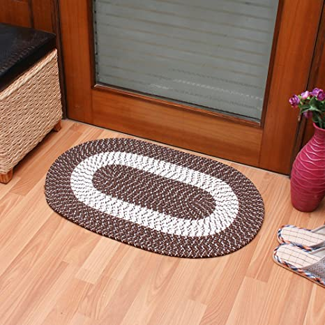 Braided Rug Traditional Rustic Reversible Oval Braided Accent Rug 20 Wx30 L Washable Braided Indoor Outdoor Area Rug Floor Carpet For High Traffic