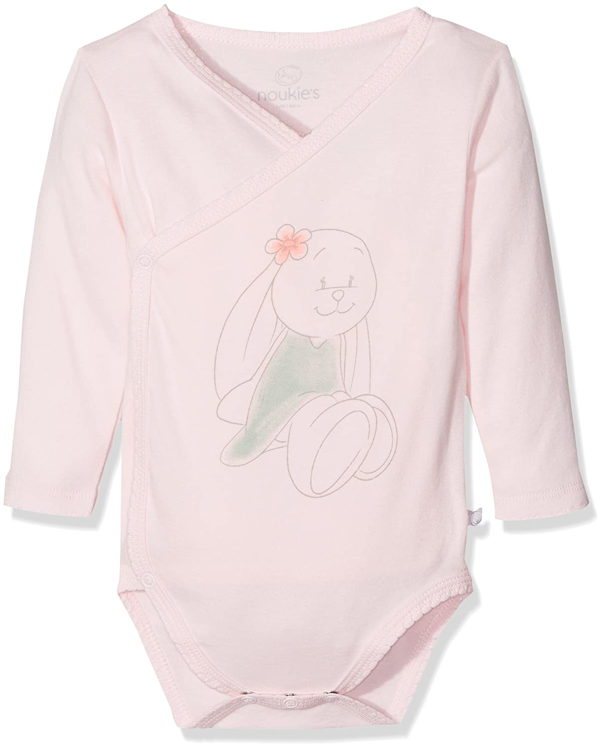 Noukies Pyjama 1PCS Graphic, Body Bébé Fille, Rose (Rose), 6M Z787182
