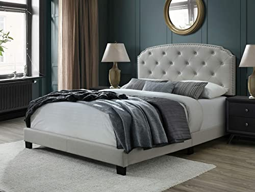 DG Casa Wembley Tufted Upholstered Panel Bed Frame