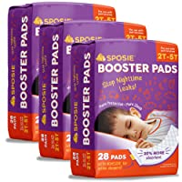 Sposie Overnight Diaper Booster Pads with Adhesive for Pull-on Diapers | Nighttime...