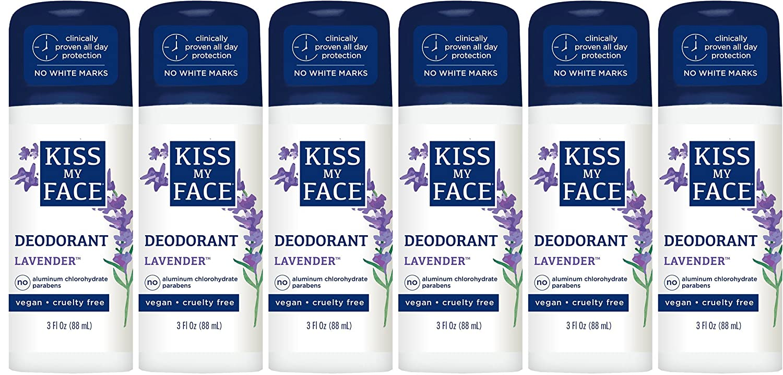 Kiss My Face Lavender Liquid Rock Roll-on Deodorant, 88ml Bottles (Pack of 6) 28367831327