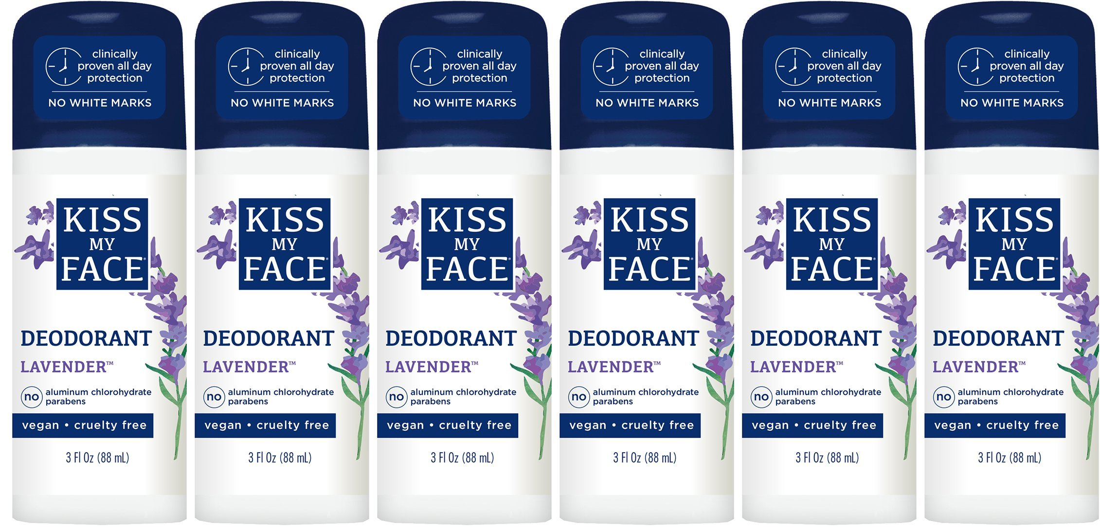 Kiss My Face Liquid Rock Deodorant Roll-On, Lavender 3 oz (Pack of 6)