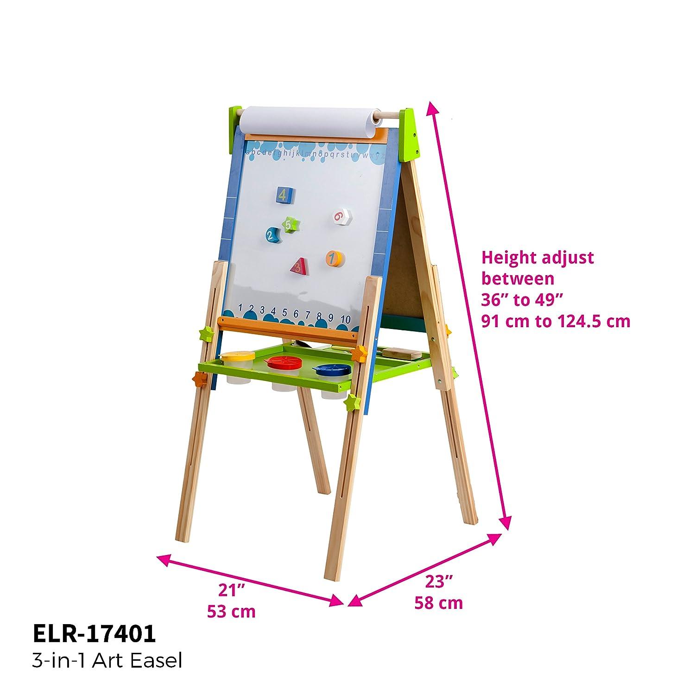 amazon com ecr4kids 3 in 1 premium standing adjustable art easel
