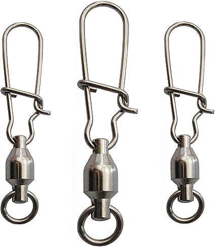 Lot 60  Fishing Swivel Kit Ball Bearing Swivels with Duo Lock Snaps Saltwater